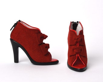 SD_Ribbon Bootie (Red)