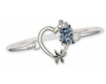 Bluebonnet Bracelet Jewelry Sterling Silver Handmade Texas Wildflower Bracelet BB1-HB