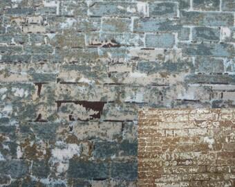 Brick, 1/2 yard, pure cotton fabric