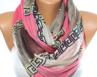 Pink Light Brown Grey Scarf Summer Spring Woman Accessory Gift Ideas For Her Mom Women Fashion Accessories Scarves Celebrations
