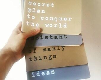 Extra Large Size MOLESKINE® notebook. Custom made MOLESKINE® Cahier journal