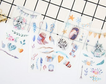 Set of 6 Story Washi Stickers,Planner stickers,Scrapbooking,Decoration