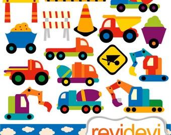 Under construction, truck clipart sale / transportation Construction Vehicle / commercial use clip art, construction trucks