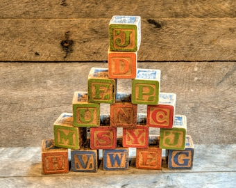 Vintage Wood Blocks