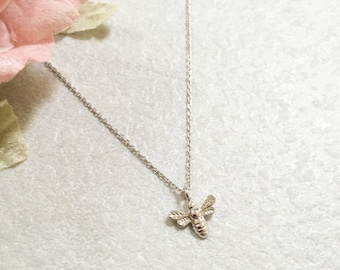 Honey Bee Necklace ~ Silver/Gold