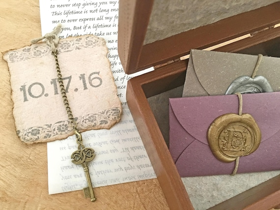Wedding Vow Gifts: Wood Anniversary Gift Idea Wedding Vow Keepsake Personalized