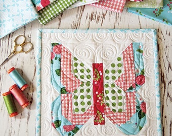 Social Butterfly Mini Quilt Pattern by Vanessa Goertzen for Lella Boutque - Fat Quarter Friendly Pattern