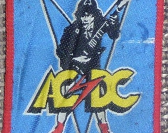 AC/DC Patch 202 Angus red border woven