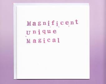 Magnificent Mum Card, Mum Birthday Card, Mother's Day Card, Birthday Card Mother, Mummy Birthday Card, Birthday Card for Mum
