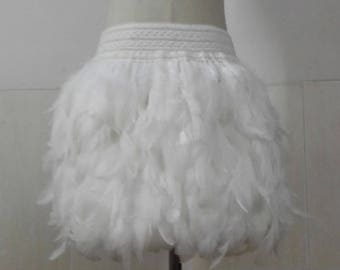 17.72 inches(45cm) rooster coque feather skirt with wide elastic waistband