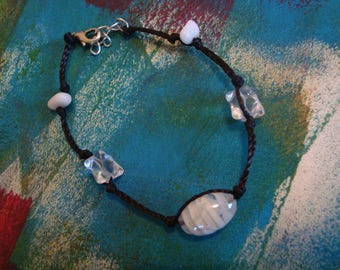Black and transparent white simple fashion bracelet
