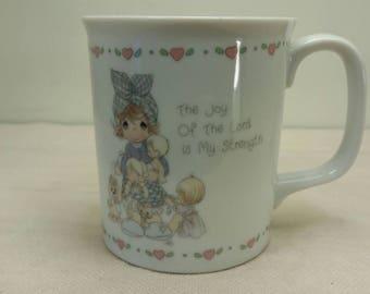 PRECIOUS MOMENTS MUG Enesco 1980s Coffee Cup Excellent Condition!
