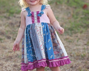 Baby Knot Right Now Dress PDF Sewing Pattern, including sizes newborn - 4 years, Baby Pattern