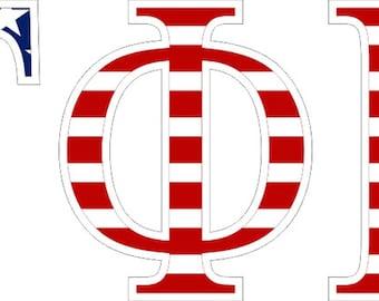 gamma phi beta american flag greek letter sticker 25