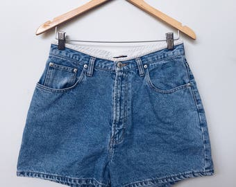 High Waisted 90s Blue Denim Shorts