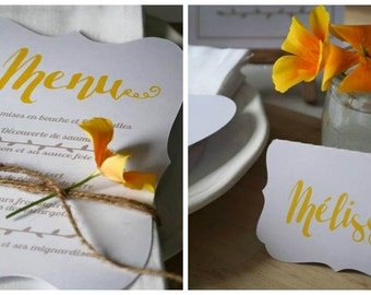 Menu + mark-up marriage (ivory or white) - command min 10
