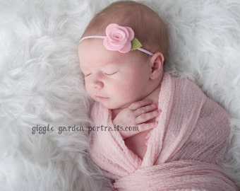 Baby Headband, Felt Flower Headband - Pick Your Own Posy - Baby Flower Headband, Baby Felt Headband, Newborn Headband, Toddler Headband