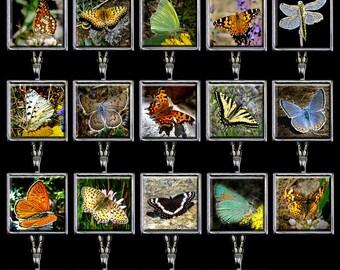 Butterfly Jewelry - Butterfly Pendant - Butterfly Necklace Handmade - Butterfly Silver Pendant (BFJ1)