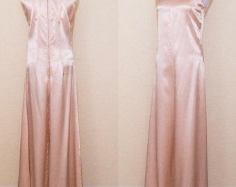 1960 soft pink palazzo pant jumpsuit