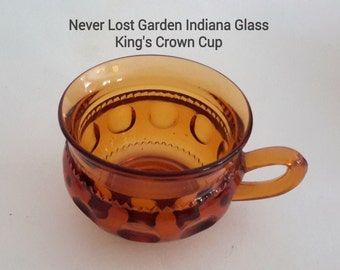 Indiana Glass King's Crown Cup Amber