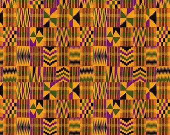"4 Pack Of Smaller Scale 6""x6"" Pieces - Serengeti Kente Cloth Premium Patterned Vinyl Vibrant Vinyl™ - Purple, Kente Vinyl, Kente HTV"