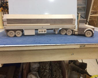 Handcrafted Wood Toy Tanker Truck