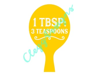 Kitchen SVG, TBSP Measurement Conversion Svg Sign Pdf, Farmhouse Instant Download, JPEG, Silhouette V3, Printable Quote, Clipart Scrapbook