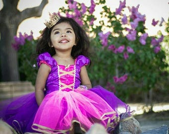 RAPUNZEL dress, Princess dress,  Rapunzel, Purple Princess dress, Rapunzel costume, Rapunzel Birthday Party, Tangled Dress,