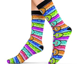 Splatoon Cushion Socks Inkling Squid Pattern