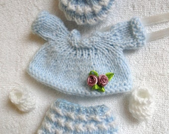"""Hand Knitted Dolls Clothes for 3,5-4""""  OOAK  Doll (# 13)"""