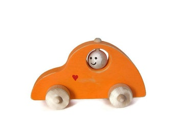 Wooden Toy Volkswagen, Wood Car, Push Toy