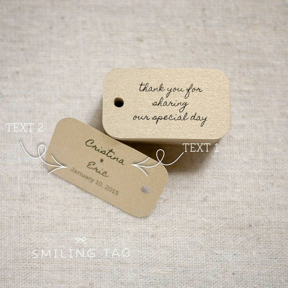 custom wedding favor tags - Wedding Decor Ideas