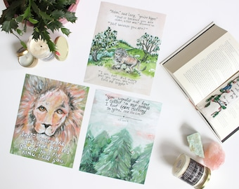 The Lion Print Set // Wall Art // Bookish Decor