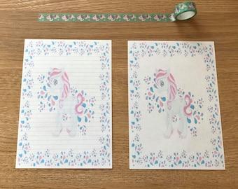 Unicorn Snail Mail Pen Pal Writing Paper