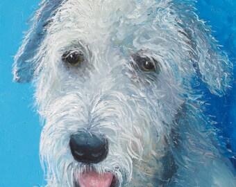 Dog oil painting, IRISH WOLFHOUND, animal painting, dog art, nursery paintings, pets, living room art, Etsy nursery art, by Jan Matson