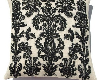 Needlepoint kit BAROQUE-  cross stitch,black,embroidery kit,needlepoint,swedish,embroidery,french country,anette eriksson,pillow