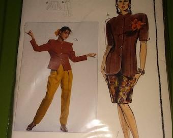New Womens Burda Couture Pattern #518 Size (US) 10-20 (EU) 36-46