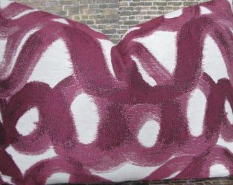 Designer Pillow Cover -  Lumbar, 16 x 16, 18 x 18, 20 x 20, 22 x 22, Euro  -GLV GEO Purple