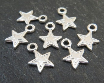 Sterling Silver Star Charm 9.5mm