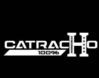 "Catracho 100 % Hondureño vinyl decal ""Honduras"" - Vinyl Stickers"