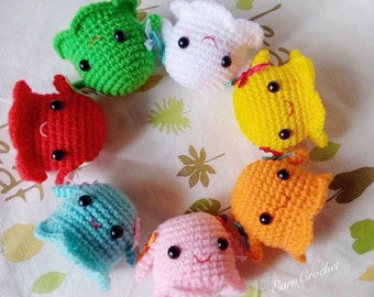 Amigurumi Crochet Keychain : Amigurumi sushi set in mini crochet dollkawaii crochet