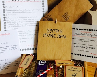 Santa's Christmas Eve Box Personalised/Letter/Certificate/Reindeer Food Box/Magic Key/Treats