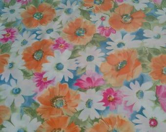 Pretty Floral Silky Print Fabric 1 2/3 Yards X0891 Scarfs, Apparel, Clothing