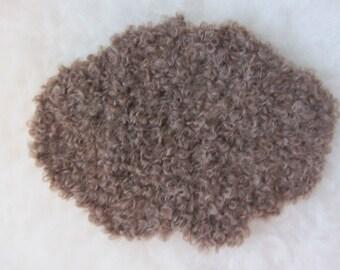 Sheepskins in natural brown