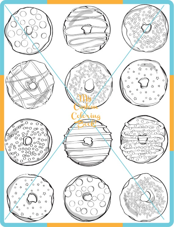 Download Doughnut Coloring Page