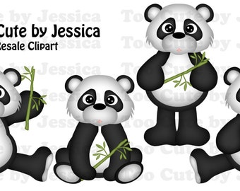 Cutting File/Paper Piecing Download - Bamboo Pandas