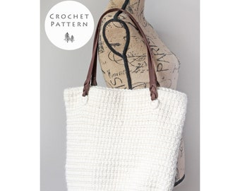CROCHET PATTERN- The Keystone Tote Bag- Crochet Bag Pattern- PDF- Digital Download