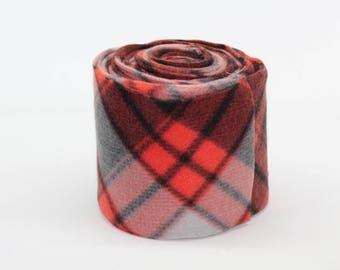 Red & Grey Plaid Polo Wraps - Made to Order