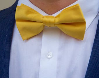 Men's Sunshine Yellow Bow Tie