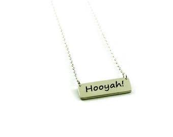 Hooyah Necklace - Navy Pride Necklace